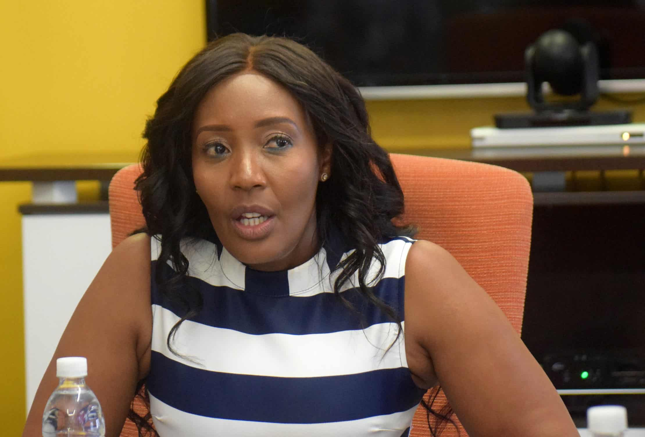 Things they say: Dineo Saleshando has a few words to share with Minister Peggy Serame